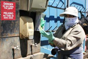 Pesticide Intervention Hand Washing Station