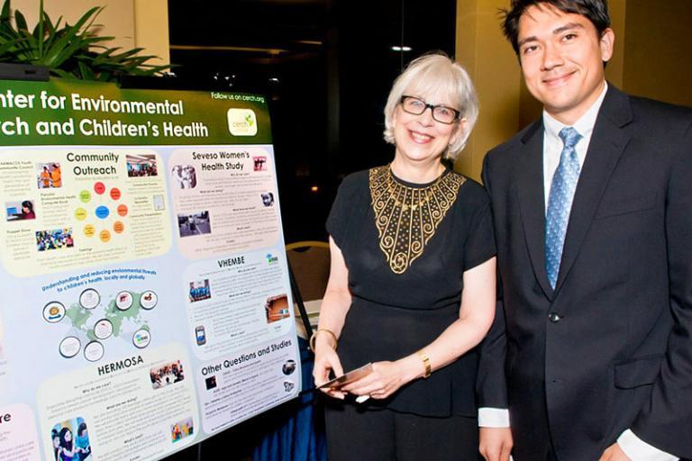 Dr. Brenda Eskenazi and Mr. Daniel Madrigal Presenting Research