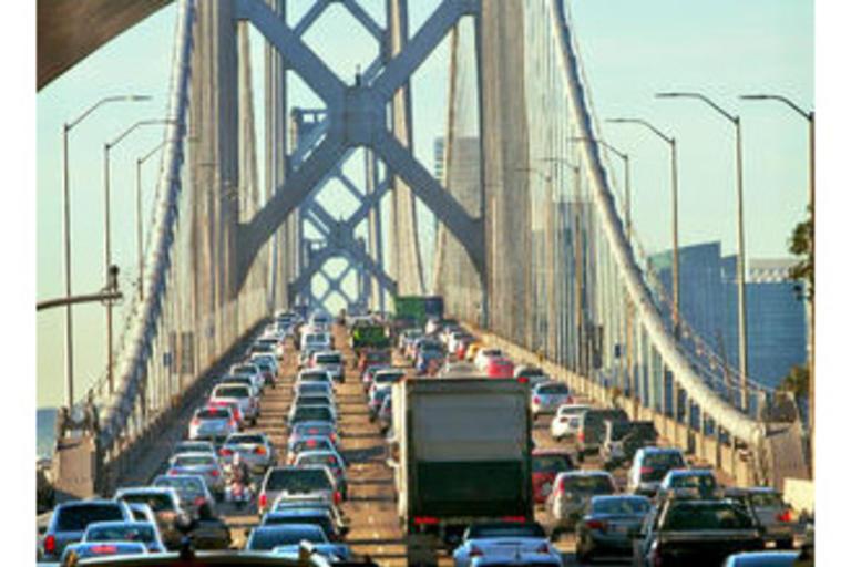 High Car Traffic on the Bridge