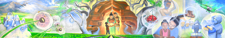 CHAMACOS Environmental Health Education Mural Panorama