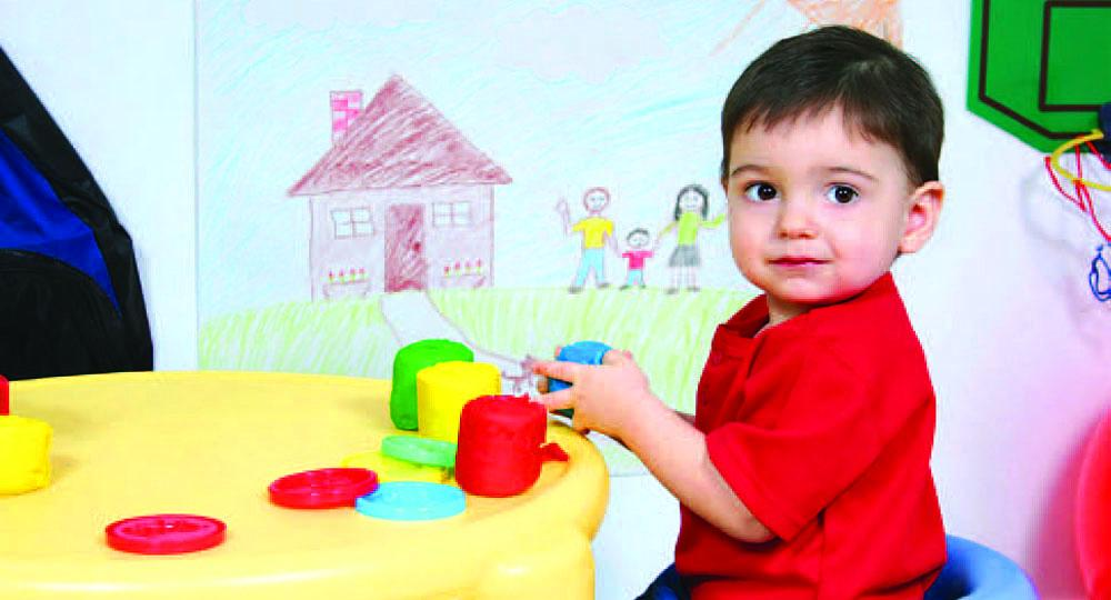 Child Playing in Child Care Center