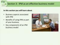 IPM as an Effective Business Model Slide Image